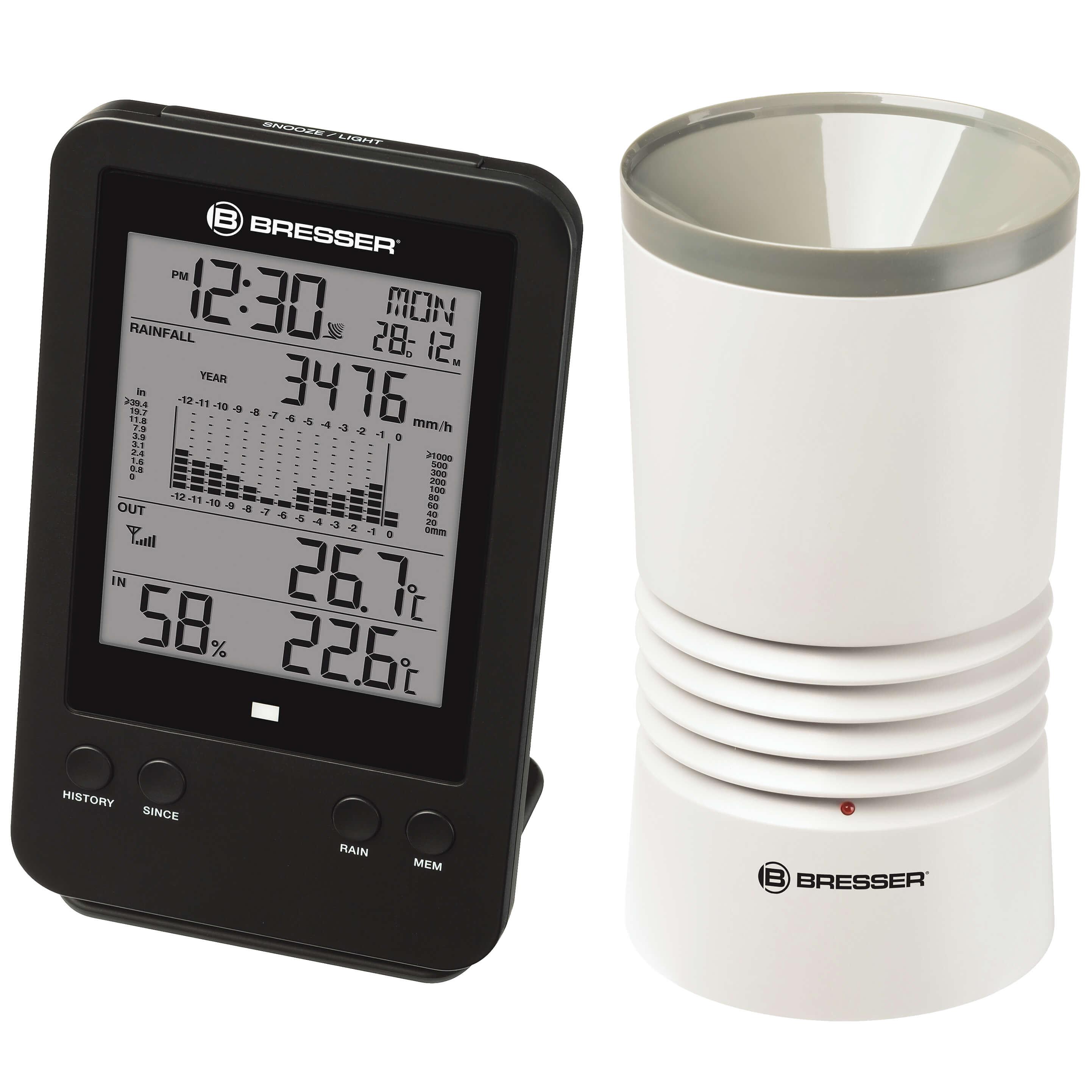 Vignette du produit : Thermo-pluviomètre électronique